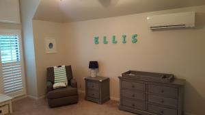 Perfect temperature, whisper quiet operation, clean air and zoned from the rest of the house.. ductless heating and cooling is just what the doctor ordered for the baby_s nursery!