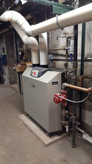 Weil-McLain High Efficiency Boiler installed in a church in Elgin, IL.