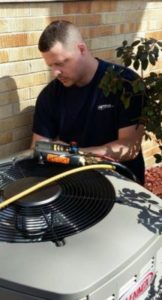 AC Service and Repair on a Lennox Air Conditioner in Elgin IL