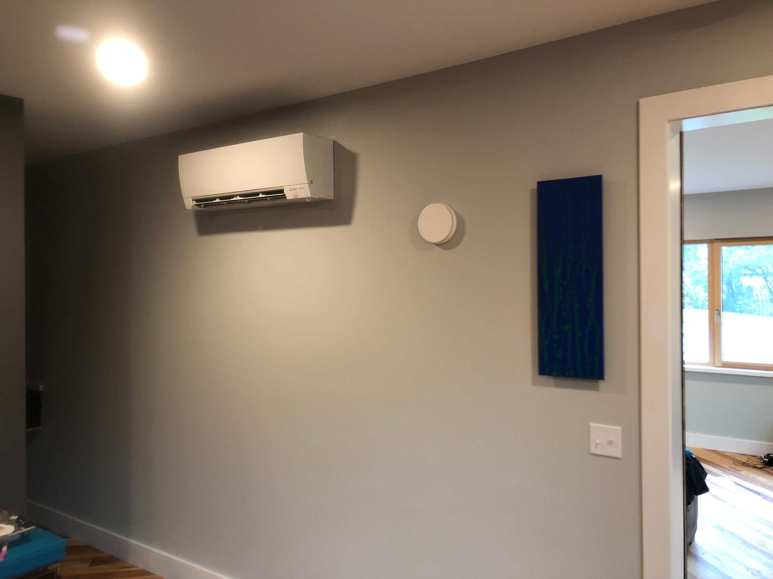 Ductless panel installation in a Palatine, IL green home