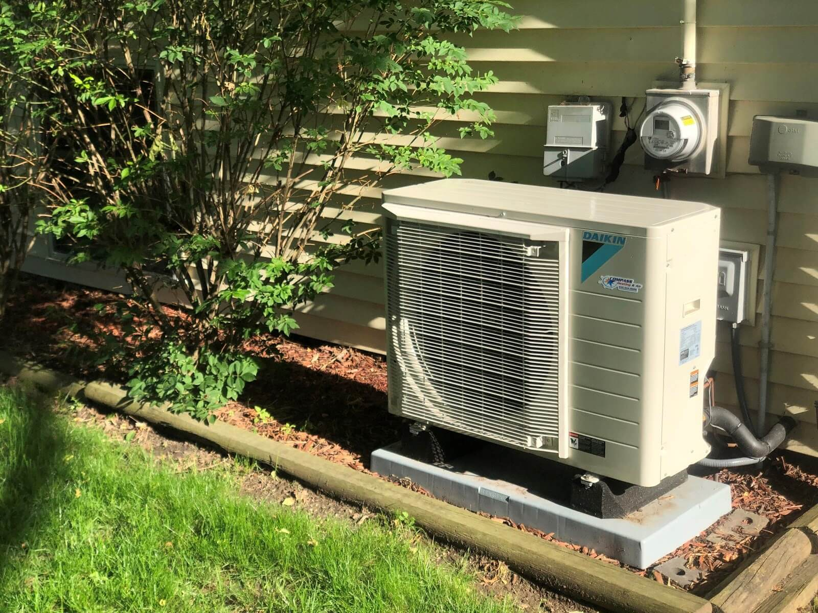 A Daikin System takes up far less space than a traditional system