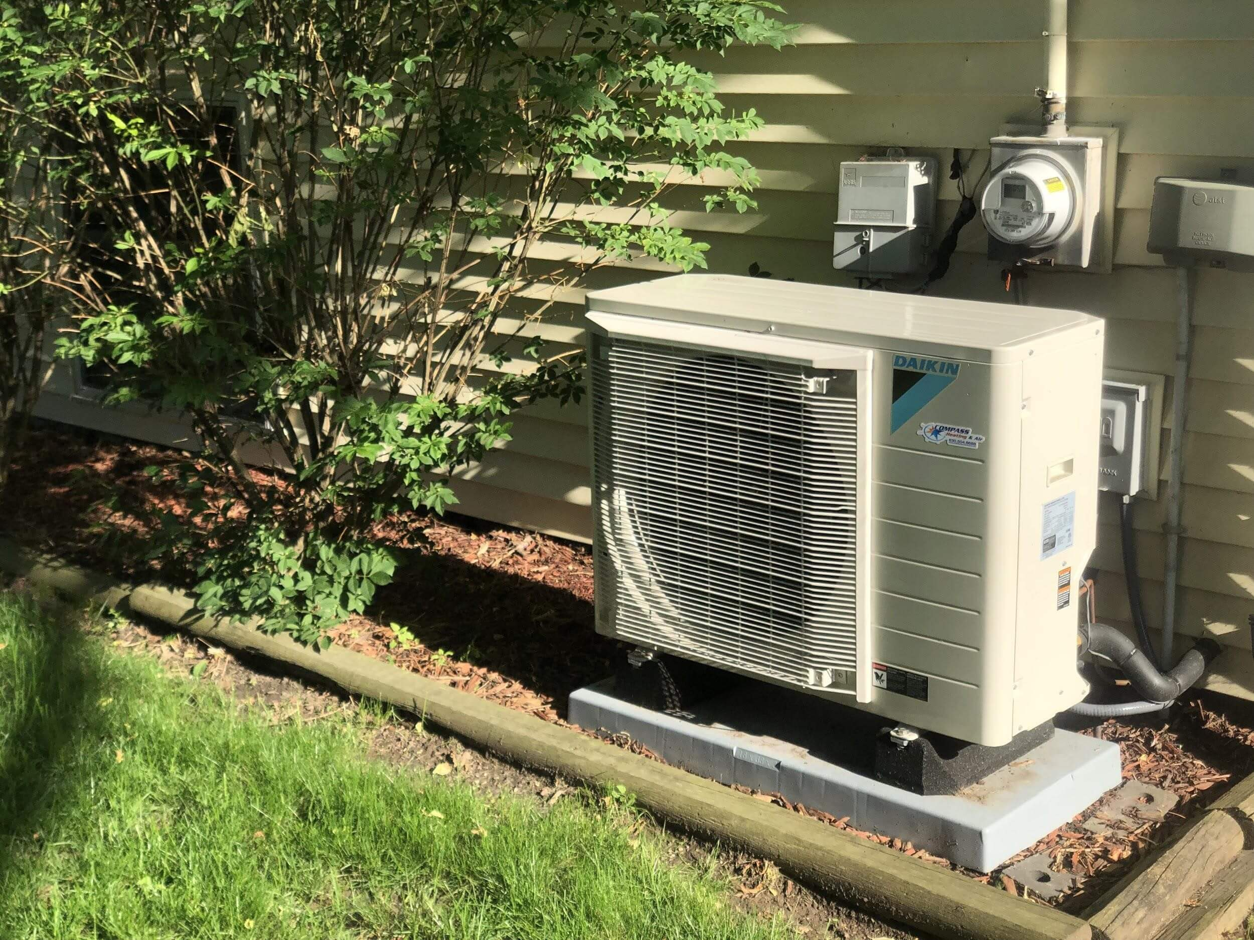 "A Daikin Fit System ""fits"" perfectly next to your home!"