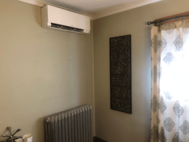 A ductless hyper-heat system costs less to run than older HVAC setups.